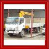 Isuzu Brand Chassis Loading 4tons Truck Crane Telescopic Type