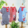 Design Customized Stripes Sailor Pet Jumpsuit Dog Clothes