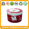 Round Tin Cookie Can with Food Grade, Biscuit Tin Box