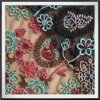 Good Quality Multicolor Mesh Embroidery Lace Flower Embroidery Lace