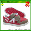 Hot Sell Children PU Lovely Casual Shoes with Hook & Loop for Girls