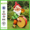 Merry Band Player Gnome Statue with Drum&Gong (NF12190A-1)