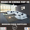 LED Light Sofa Wooden Sofa Set Designs U Shape Couches