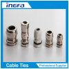 Brass Nickel Plated Explosion Proof Metal Cable Gland with Silicon Rubber Insert