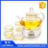 Heat Resistant Clear Glass Flower Tea /Drink Set with Infuser