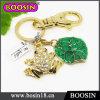 Rich Gold Custom Metal Made Living Animal Frog Keyring #15941