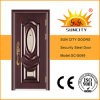 Good Quality Glass Entry Steel Door Design (SC-S069)