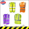 ANSI Class2 Black/ Green Factory Reflective Safety Vest with Pocket