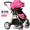 2016 New Deluxe Pink Baby Stroller Top Quality