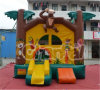 Commercial Inflatable Jungle Animal Bouncer with Monkey and Trees