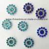 2017 New Arrival Wholesale 12mm Loose Swaro Crystals Flower Claw Setting Sew on Glass Beads (TP-sapphipe 12)