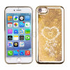 Transparent Plastic 3D Glitter Quicksand and Star Liquid Case for iPhone 5 5s Se