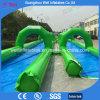 2017 Hot Sell Double Lane Inflatable Water City Slide N Slip