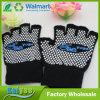 Black Half Finger Anti Slip Gloves Dispensing Yoga Gloves