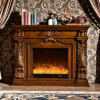 Home Furniture European LED Lights Electric Fireplace with Heater (327B)