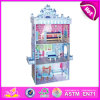 2014 Fashion New Wooden Dollhouse Toy, Educational Children Dollhouse Toy, Hot Sale 3D Wooden Baby Dollhouse Toy Factory W06A079