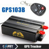 Quad Band Vehicle GPS Tracker GPS103b SD Slot Remote Control+Shake Sensor+Siren