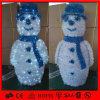 Christmas Decoration 3D LED Sculpture Snowman Motif Light