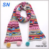 2015 Winter Fashion Women′s Pompom Scarf