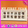 2016 Wholesale Wooden Family Photo Frame, 12 Hole Wooden Family Photo Frame, Lovely Wooden Family ...