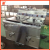 18L+18L Commercial Natural Gas Fryer for Sale