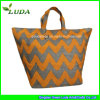 Mixed Color Wave Pattern Printed 2015 Straw Bag