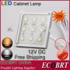 Ecobrt- Ultra-Thin Surface Mount Square Under Cabinet Lighting 12V DC (6009)