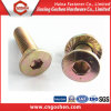 Color Zinc Flat Countersunk Hex Socket Bolt with Nut
