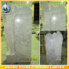Carara White Marble Angel Headstone Leaning Angel