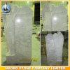 Carara White Marble Angel Headstone Leaning Angel