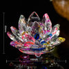 Colorful Crystal Lotus Votive Candle Holder Candlestick for Home Decoration