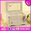 2016 Brand New Wood Toy Jewellery Box, Mirror Wooden Jewellery Box, Jewellery Box for Kids, Fashion Jewellery Wooden Box W09e017