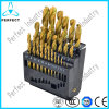 High Quality 25 PCS Titanium Coated HSS Twist Drill Bit Set