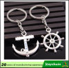 Cheap Rudder and Boat Anchor Key Chain with Love