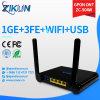 1*10/100/1000m Gigabit + 3*10/100m Gigabit + WiFi FTTH Gpon WiFi ONU Zc-500W