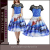 Plus Size Christmas Tree Printed Girls Vintage Party Dress (TSY1921)