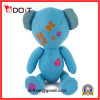 Blue Doodle Bear with Lip and Heart