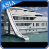 Inflatable Yacht Slide, Houseboat Slide Game, Inflatable Yacht Floating Water Slide