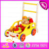 2016 New Model Baby Building Blocks Walker Toy, Multi-Function Wooden Baby Walker Toy, Popular Cart Toy W16e020