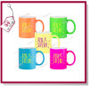 Sublimation Printed 11oz Neon Mug with Colors
