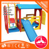 Full Plastic House with Swing Seat Baby Slide Roof