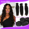 "8""-30""Virgin Russian 100% Human Hair Extension, Deep Wave Bundle Hair Weft, Natural Color Can Be Dye"