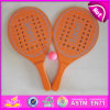 2015 Shot Kids Wooden Tennis Beach Rackets, New Wooden Beach Rackets with Ball, High Quality for Match Beach Tennis Racket W01A109