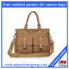 Canvas Satchel Bag, Canvas Shoulder Bag Women