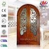 Smooth Bedroom Glass Wooden Door