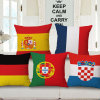 Cotton Linen Flag Printed Cushion Cover Without Stuffing (35C0174)