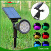 7LED RGB Pathway Solar Light LED Spotlight Outdoor Waterproof Solar Power Spotlight Garden Yard Path Lawn Lamp Landscape Light