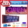 "LED Sign 27""X8"" Programmable Scrolling Full Color Message Board"