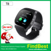 T8 Bluetooth Smart Watch with SIM Card Slot 0.3 MP Camera