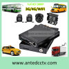 High Quality HD 1080P 3G/4G WiFi 4 Channel Mini SD Card in Car DVR with GPS Tracking
